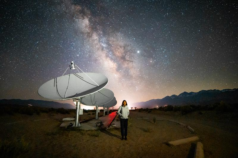 The Deep Synoptic Array (DSA) in Owens Valley, CA